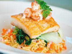Orzo con halibut
