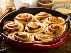Cinnamon rolls de chocolate