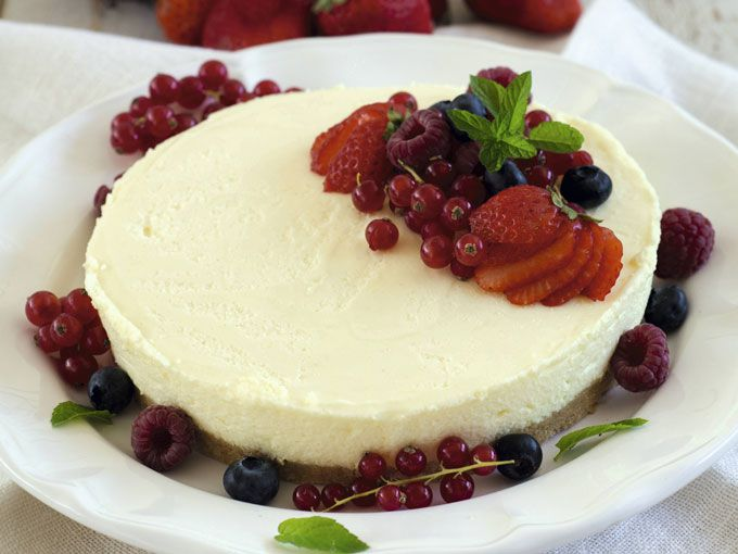 Cheesecake light sin horno