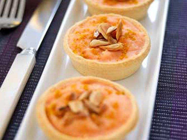 'Miniquiches' de Calabaza con Curry y Almendras