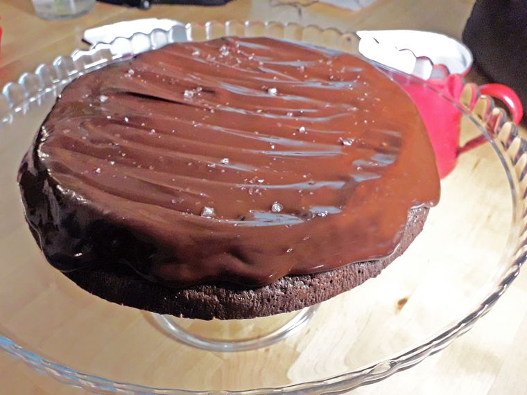 Tarta de chocolate jugosa